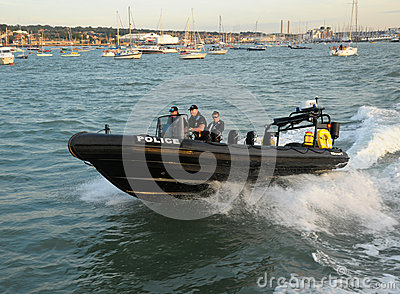 Police RIB patrol Editorial Photography