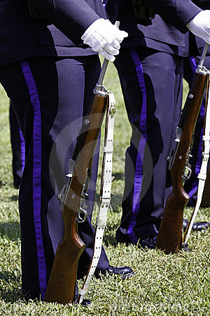 Police Rifle Team Honor Guard Rifle and Sling