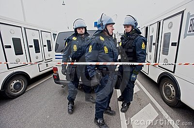 Police in Riot Gear Editorial Image