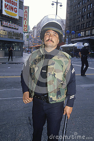 Police in riot gear Editorial Stock Photo