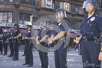 Police in riot gear, Editorial Photo