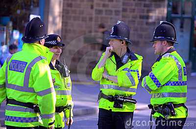 Police at Saddleworth Brass Band Contest Editorial Image