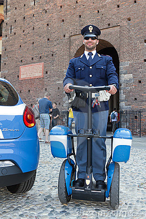 Police on segway roller Editorial Photography