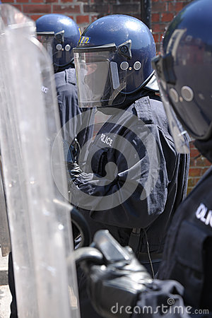 Police shields Editorial Image