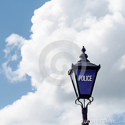 Free Police Sign Street Light Old Fashioned Uk Stratford Upon Avon Royalty Free Stock Images - 78801519