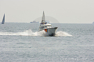 Police speed boats Editorial Photography