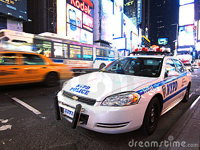 Police in Times Square Editorial Image