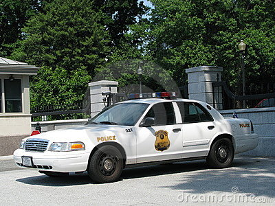Police - USSS Car, Washington DC Editorial Photography