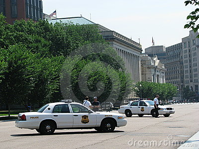 Police - USSS Cars, Washington DC Editorial Image
