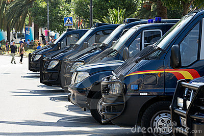 Police vehicles Editorial Stock Image