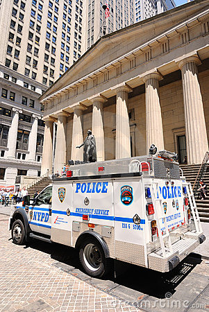 Police on Wall Street Editorial Image