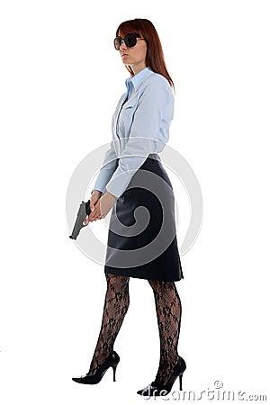 Police woman on duty