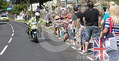 Policeman on motorbike Editorial Stock Photo