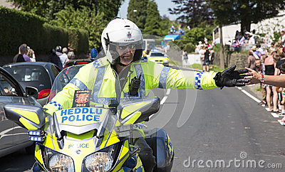 Policeman on motorbike Editorial Image