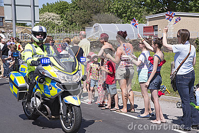 Policeman on motorbike Editorial Photography