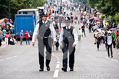 Policemen in London patroling the streets Editorial Photo