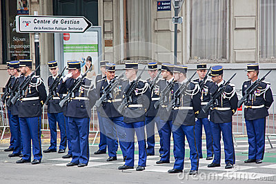 Policemen On Parade Editorial Stock Image