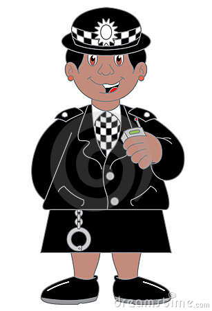 Policewoman Cartoon Illustration Stock Photography - Image ...