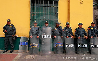 Policia in Lima, Peru Editorial Photo