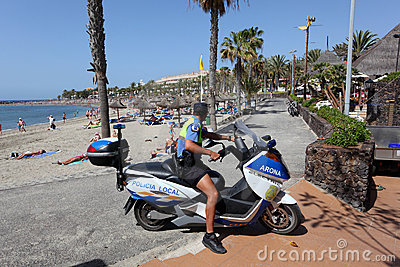 Policia Local, Tenerife Editorial Stock Photo