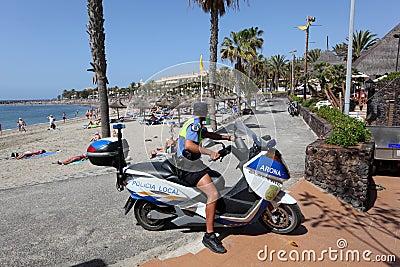 Policia Local, Tenerife Editorial Stock Photo