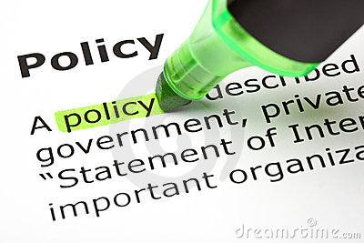 Policy  highlighted in green