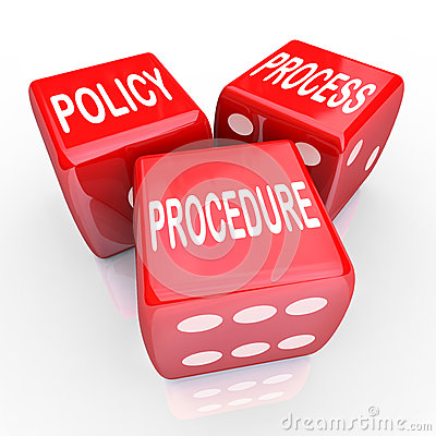 Free Policy Process Procedure 3 Red Dice Company Rules Practices Royalty Free Stock Photo - 41368615