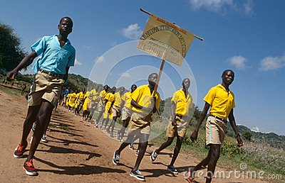 Polio immunisation awareness campaign, Uganda Editorial Stock Photo