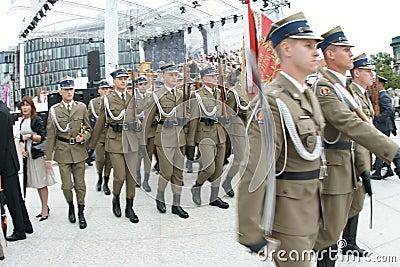 Polish army Editorial Stock Image