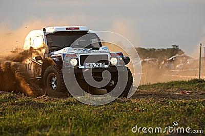 Polish Baja cross-country race Editorial Image