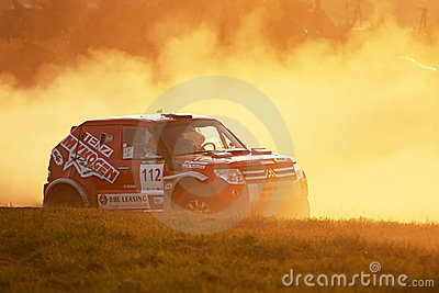 Polish Baja cross-country race Editorial Image