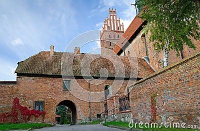 Polish basilica architecture details