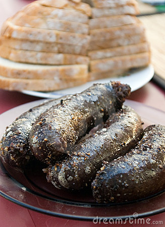 Polish blood sausage