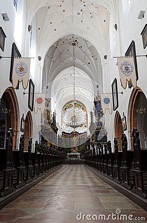 Polish cathedral beautiful interior