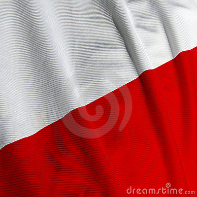 Polish Flag Closeup