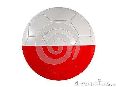 Polish flag on a football