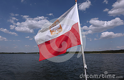 Polish flag waving