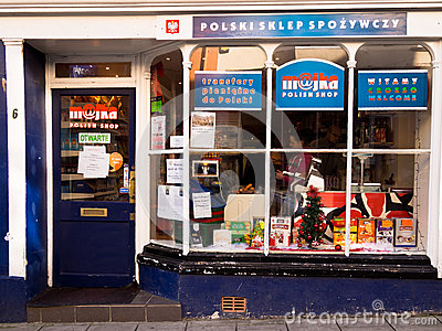 Polish Grocery Shop in UK