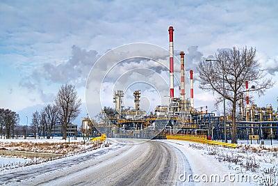 Polish oil rafinery in Gdansk