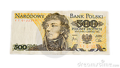 Polish old banknote
