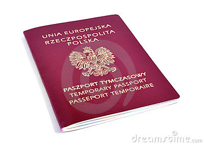 Polish pasport isolated.