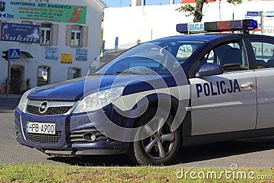 Polish police car Editorial Image