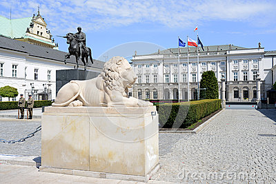 The Polish Presidential Palace in Wrasaw Editorial Photo