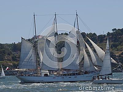 Polish Tall Ship Kapitan Borchard Editorial Photography