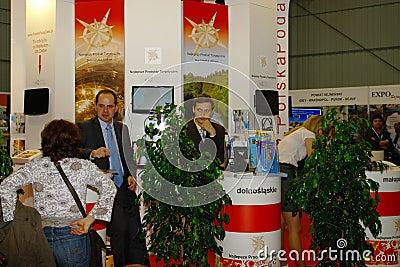 Polish Tourist Organisation  at TT Warsaw Editorial Stock Photo