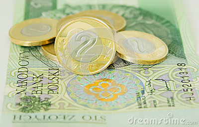 Polish two zloty coins