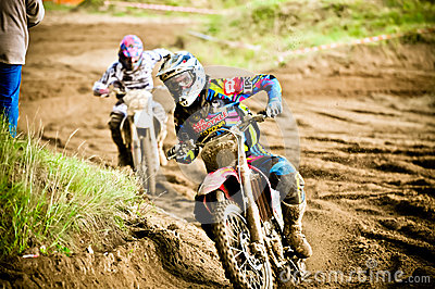 Polish Western Zone Motocross Championship Round VI Poland Editorial Photography