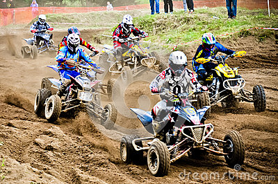 Polish Western Zone Motocross Championship Round VI Poland Editorial Stock Image