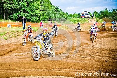 Polish Western Zone Motocross Championship Round VI Poland Editorial Stock Photo