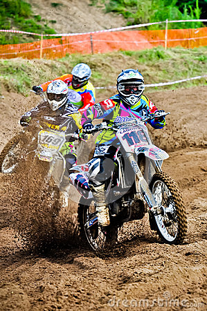 Polish Western Zone Motocross Championship Round VI Poland Editorial Photo